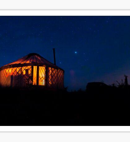 Night Yurt. Sticker