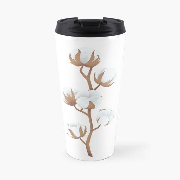 Cotton flower plant Travel Mug