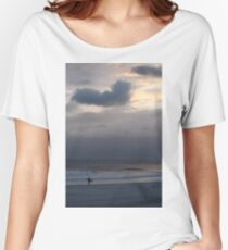 Lone Surfer Long Beach, NY Women's Relaxed Fit T-Shirt