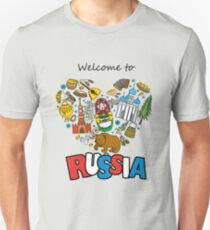 Welcome to Russia. Russian symbols, travel Russia T-Shirt