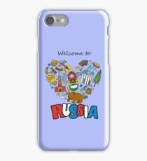 Welcome to Russia. Russian symbols, travel Russia iPhone Case/Skin