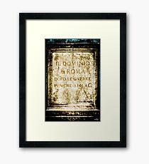 Il Dominio di Roma Framed Print