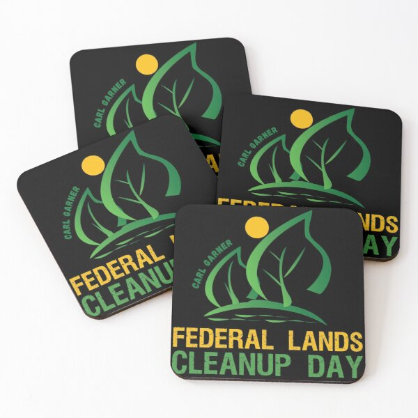 Federal Lands Cleanup Day  Coasters (Set of 4)
