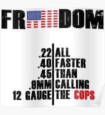 FASTER THAN CALL THE COPS MEN'S TEE Poster