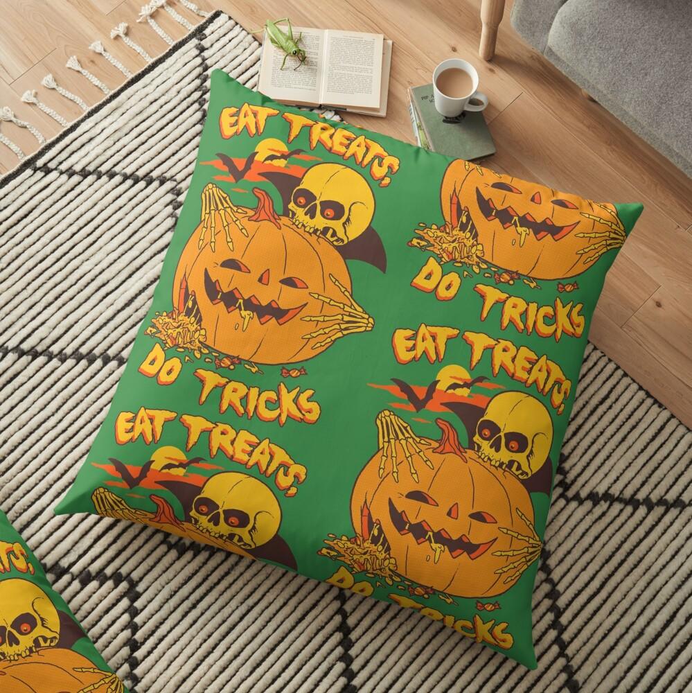 Eat Treats, Do Tricks Floor Pillow