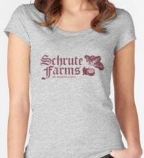 Schrute Farms Women's Fitted Scoop T-Shirt