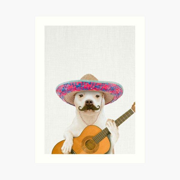 Dog Guitarist Art Print