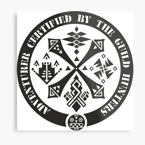 Certified By The Guild of Hunters Metal Print