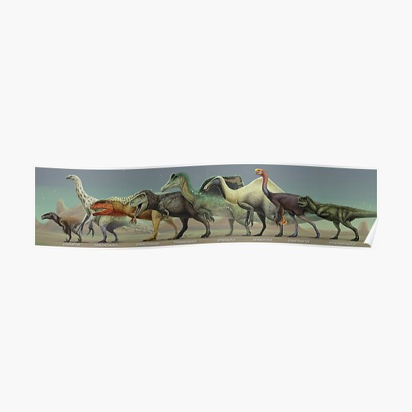 LARGE THEROPOD DINOSAURS. 2021 poster edit Poster