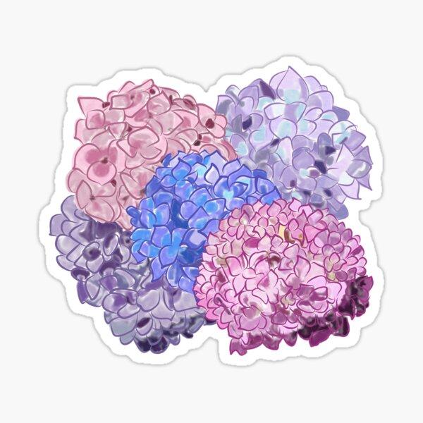 Watercolor Hydrangeas  Sticker