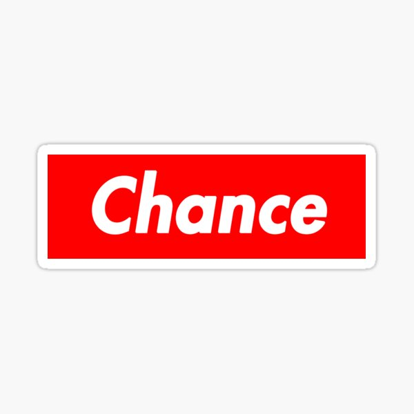 Chance The Rapper Supreme Sticker