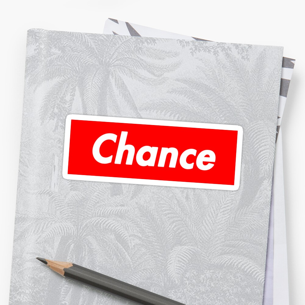 Quot Chance The Rapper Supreme Quot Sticker By Cameroncdesigns