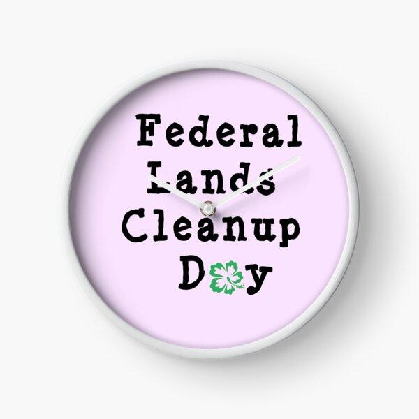 Carl Garner Federal Lands Cleanup Day Clock