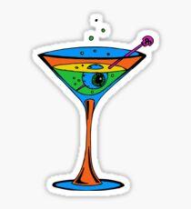 Eyeball Martini Macabre Humor Sticker