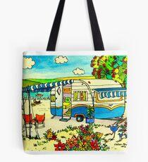 Retro Caravan Holiday Tote Bag