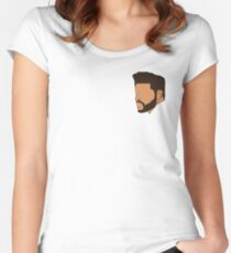 The Weeknd Outline V2 Women's Fitted Scoop T-Shirt