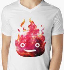 CALCIFER - Howl's Moving Castle Fire Men's V-Neck T-Shirt