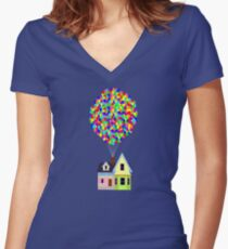 Up! House Women's Fitted V-Neck T-Shirt