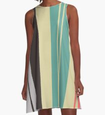 Seamless striped pattern with grunge stripe texture A-Line Dress