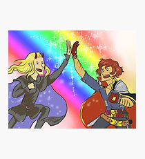 FRIENDSHIP OF GLITTER AND RAINBOWS Photographic Print