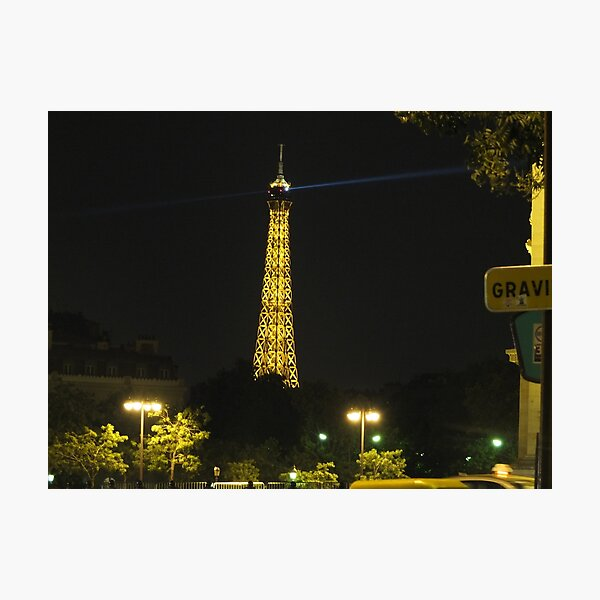 Eiffel Tower on a lovely evening in Paris Photographic Print