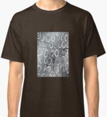 Artistic Silver Tone Circle Brush Pattern Design Classic T-Shirt