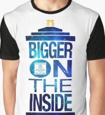 It's Bigger on the Inside - Tardis Galaxy Graphic T-Shirt