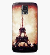 Eiffel Tower, Red Night Case/Skin for Samsung Galaxy