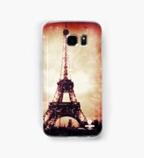 Eiffel Tower, Red Night Samsung Galaxy Case/Skin