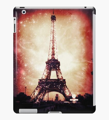 Eiffel Tower, Red Night iPad Case/Skin