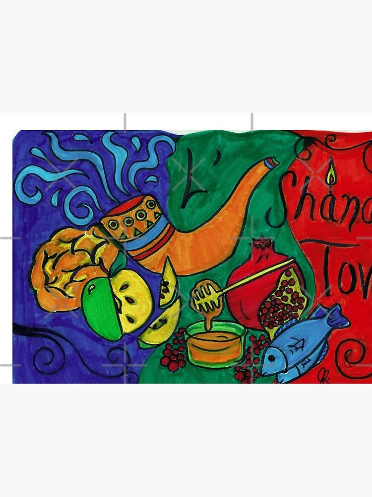 L'Shana Tova Happy Rosh Hashanah Greeting Card by joeypokes