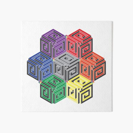 fibocube tesseract Art Board Print