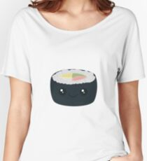 Smiling Sushi with Vegetables Women's Relaxed Fit T-Shirt