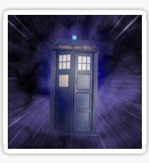 Tardis Through Space and Time Sticker