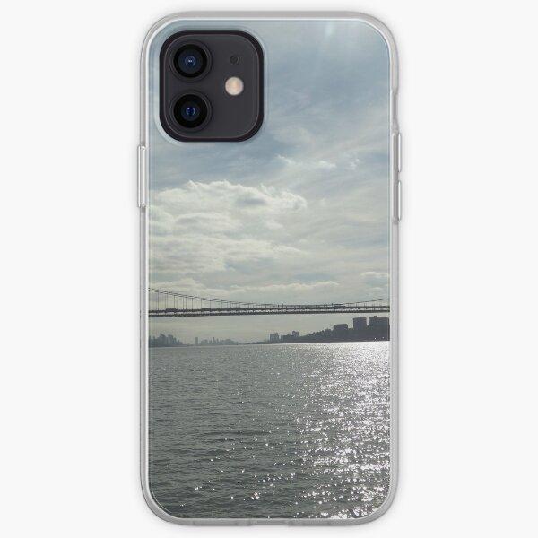 George Washington Bridge, Hudson River, New York City iPhone Soft Case