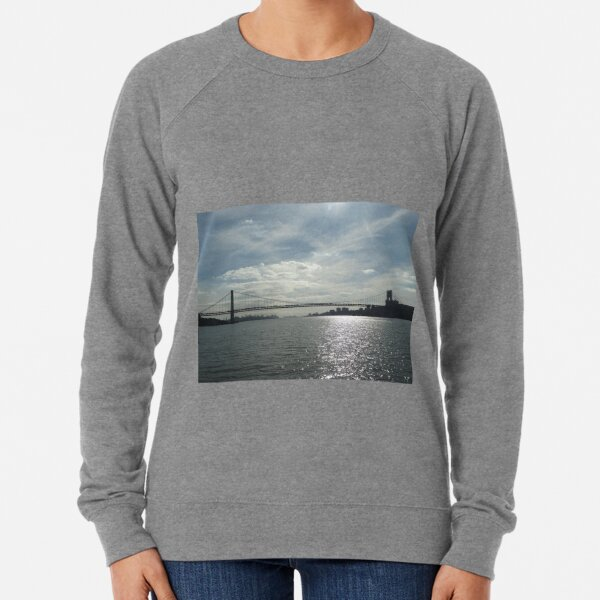 George Washington Bridge, Hudson River, New York City Lightweight Sweatshirt