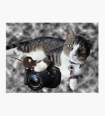 "(CAT) ""SAY CHEESE"" (MOUSE)""DID SOMEONE SAY CHEESE?"" CAT & MOUSE PHOTOGRAPHER - PICTURE & CARD Photographic Print"