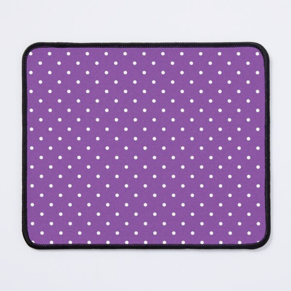 Dark Purple Background with White Polka Dots Mouse Pad