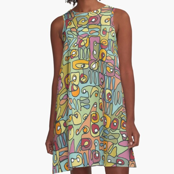 Be Square. Be Colorful. A-Line Dress