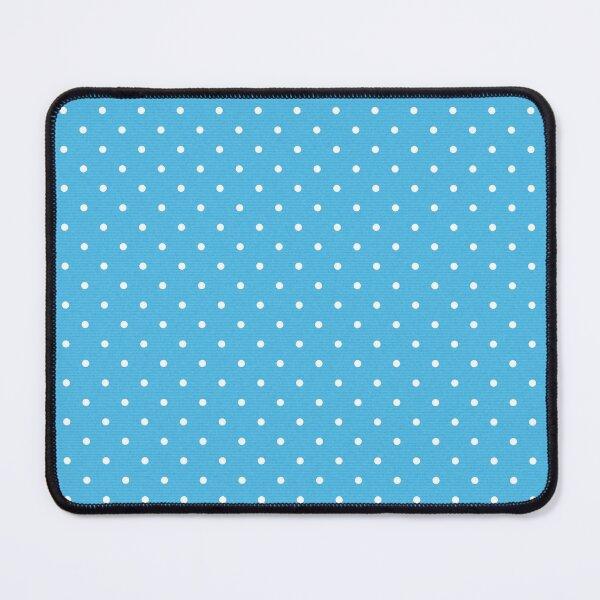 Blue Polka Dot Pattern Mouse Pad