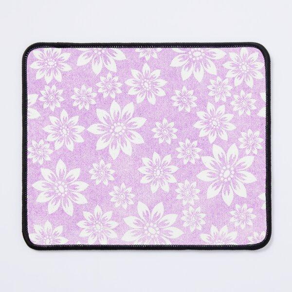 Purple Floral Pattern  Mouse Pad
