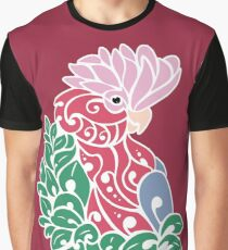 Galah cockatoo tribal tattoo pink rose-breasted parrot Graphic T-Shirt