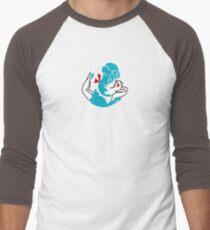 Blue Girlie Men's Baseball ¾ T-Shirt