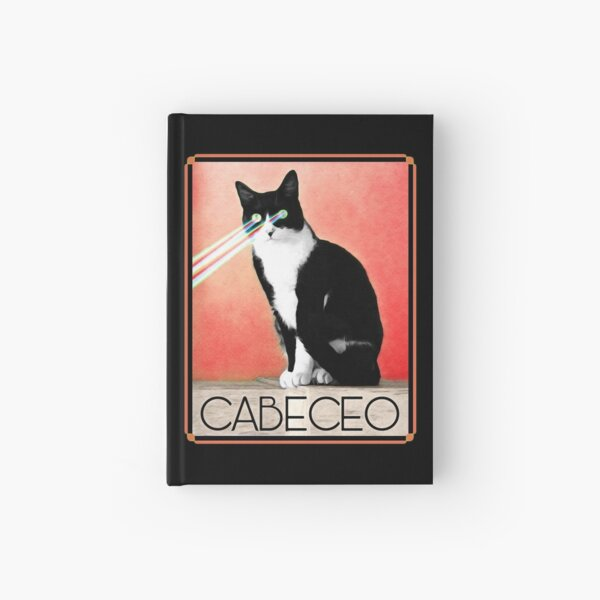 Cabeceo with Laser Cat Eyes Tango Poster Hardcover Journal