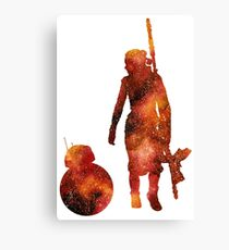 The Droid & The Girl with the Staff Canvas Print