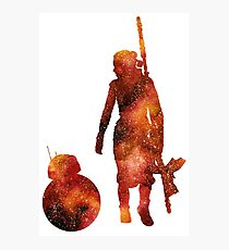 The Droid & The Girl with the Staff Photographic Print