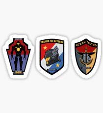 Pacific Defense Core badges Sticker
