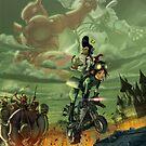 The epic Monkey King Scape by FRUIZ101