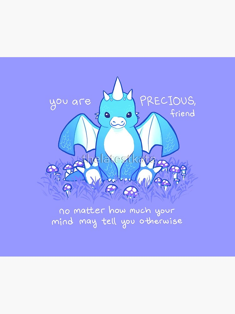 """""""You are PRECIOUS, friend"""" Baby Dragon by thelatestkate"""