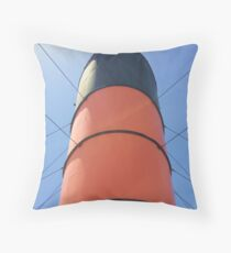 Queen Mary funnel Throw Pillow